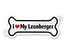 I Love My Leonberger Dog Bone Bumper Sticker Decal Db 230