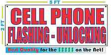 CELL PHONE FLASHING UNLOCKING Banner Sign NEW Larger Size Best Price for The $$$