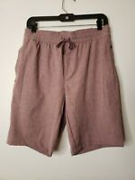 George Men's Shorts Pink Heathered Size Small 28-30 Drawstring New with Tags