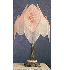 "Meyda Tiffany 19227 28""H Fabric & Fringe Pink Pontiff Table Lamp"