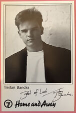 More details for tristan bancks *tug o'neale* home and away pre-signed 1990s cast fan card rare