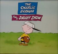 Peanuts:Charlie Brown Original Watercolor Title Card w/Original Production Cel