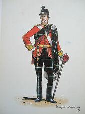 SCOTTISH MILITARY POSTCARD-OFFICER  HIGHLAND LIGHT INFANTRY 2ND BN 1886-1906