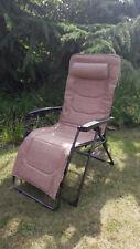 Klappstuhl Relaxstuhl Relaxliege Lounger Westfield B-Ware 140 kg Beige
