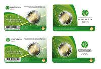 2 * 2 Euro GDM BELGIEN 2020 CC NL/FR Internationales Jahr der Pflanzengesundheit