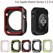 Dual Colors Silicone Case For Apple Watch Series 1 2 3 4 Cover 44mm Protectives