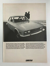 1970 Fiat 124 Sport Coupe Print Ad Original Vintage Italy Made