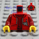 NEW Lego Minifig RED JACKET TORSO Boy Girl Sweater Shirt Hoodie Sweatshirt Vest