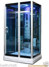 Steam Shower Enclosur w/Hydro Massage,ozone,Bluetooth.USA Warranty