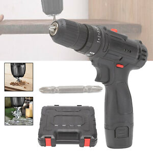 Cordless Drill 12V Set Driver Screwdriver Lithium Ion Battery Fast Charge