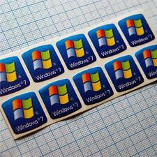10 x Windows 7 Adesivo Logo Sticker etichetta desktop e notebook in HD Quality
