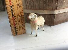 Antique German Wood Sheep Toy , Handmade ?