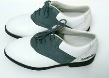 Reebok Golf Shoes Women Size 6.5 White Gray Cleats Sneaker Excellent Retail $98