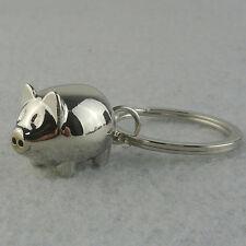 EG _1pc Joli Mini cochon Porte-clés Mignon Cadeau anneau breloque décoration