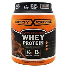 Body Fortress Super Advanced Gluten Free Chocolate Whey Protein Powder 2lbs.