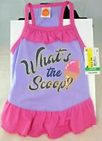 "SimplyDog - Lavender/Pink ""What's the Scoop?"" Dress (Pet, Dog) Medium"