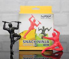 Pinzas para bolsas de merienda Ninja Snack Conjunto de 6 Ninjas Cocina Novedad