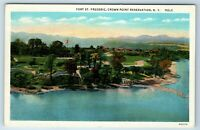 Vintage Linen Postcard Fort St. Frederic Crown Point Reservation NY 1944