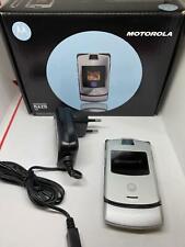 Motorola RAZR V3 Unlocked Flip Mobile Phone Silver - Free Tracked Post