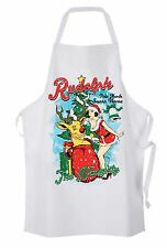 Naughty Rudolph Reindeer Christmas Chef's Kitchen Apron