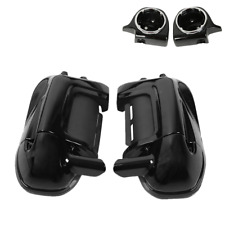 Lower Vented Leg Fairings W/ Speaker Box Pods For Harley Road King Electra Glide