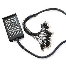 30m-20 ENTRADAS XLR 3 pines multiconductor Telar / Serpiente Cable 16 4 RETURNS
