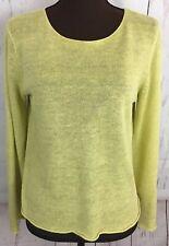 Eileen Fisher Pullover Sweater Size Petite Medium Light Green L/S 100% Linen