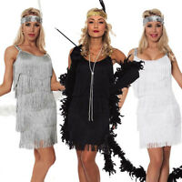 Women's 1920s Charleston Flapper Chicago Gatsby Fancy Dress Party Costume Xmas