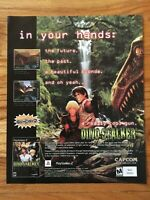 Dino Stalker Playstation 2 PS2 Capcom 2002 Video Game Poster Ad Art Print Rare