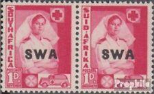 Namibië - Southwest 218-219 horizontaal Echtpaar met Fold 1941 Rüstungsbilder