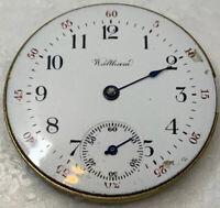 Waltham Seaside 1891 Pocket Watch Movement 0s 11j Hunter Parts Repair F2973