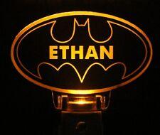 Batman Night Light Personalize Yellow