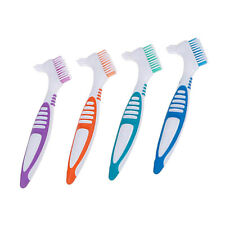 4 Pack Denture Brushes Multi-Layered Y-Shape Food Residue Cleaner Toothbrush