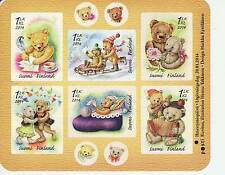 Finland 2014 MNH - Toys - Bear friends - Miniature sheet, 6 first class stamps
