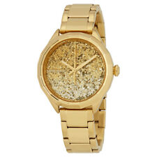 Diesel Kween B Gold-tone Glitter Dial Ladies Stainless Steel Watch DZ5540