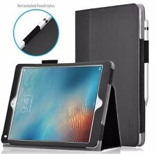 Exact For Apple iPad Pro 9.7 [PRO] Slim-Fit PU Leather Folio Bumper Case Black