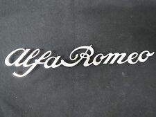 Alfa Romeo 1970-82 Spider ORIGINAL REAR SCRIPT EMBLEM badge logo trunk Veloce
