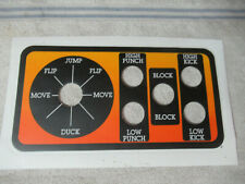1 Original Mortal Kombat joystick 5 button Nos Sticker arcade game