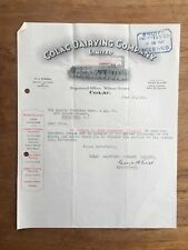 1941 COLAC DAIRYING CO. LTD SHARE DIVIDEND LETTERHEAD INVOICE RECEIPT F118