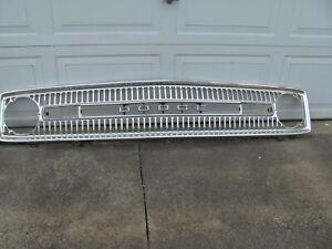 1973 Dodge B-200 Van polished aluminum grille.