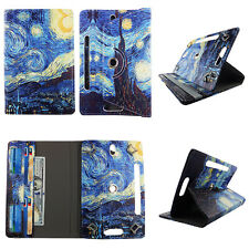 "7 INCH TABLET CASE 7"" UNIVERSAL FOLIO STANDING COVER ARTISTIC STARRY NIGHT"