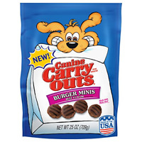 Canine Carry Outs Burger Minis Beef Flavor Dog Snacks, 25-Ounce