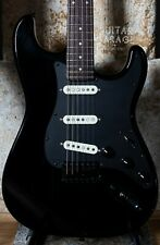 Fender Japan Stratocaster all black with 1986 neck and matching headstock - MIJ