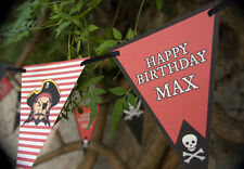 PERSONALISED PIRATE BUNTING QUALITY BEDROOM BUNTING PIRATE PARTY BUNTING 3 metre