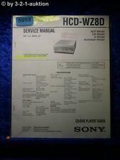 Sony Service Manual HCD WZ8D CD DVD Tuner (#5953)