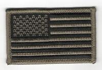 Toppe Toppa PATCH USA AMERICA MILITARI Bandiera banderina ricamata termoadesivo
