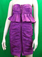 NWT MIU MIU PRADA PURPLE ZIP FRONT BUSTIER MINI COCKTAIL EVENING DRESS 44 8