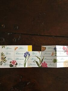 Royal Mail Flower Greetings Labels - One Used In Excellent Condition