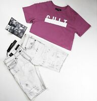 Cult of individuality NY 2p set mens 100%Authentic Shorts size 31 and t-shirt M