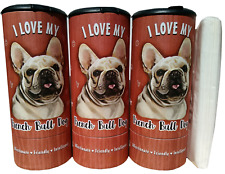 I Love my French Bulldog (85015)Refillable Tissue Tube with 1 Refill package